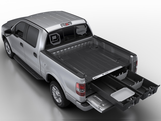 A new system from an Idaho company named DECKED converts a truck bed into a storage system. (Photo Courtesy of DECKED)