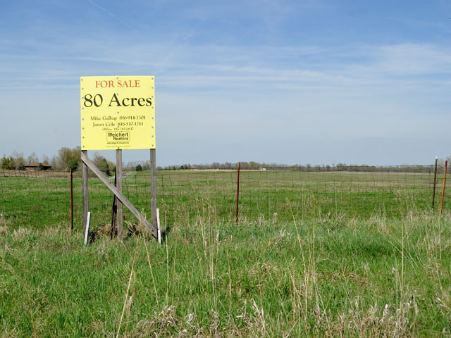 You can typically find a sign of someone selling farmland, but it's more unusual for landowners to get letters from a real-estate wholesaler offering a rock-bottom price for quality ground. (DTN file photo by Jim Patrico)
