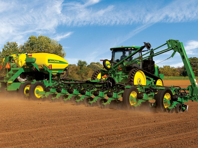 The new John Deere ExactEmerge system can plant accurately at 10 miles per hour. Most farmers who replied to our poll want to see it and other new technologies in action before they buy. (Photo courtesy of John Deere)