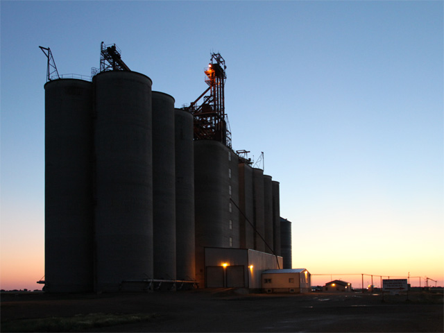 Week 42 Canadian Grain Commission statistics show prairie elevator stocks falling to 2.361 million metric tons, the lowest since reported since Week 4, but still well-above average. (DTN photo by Elaine Shein)