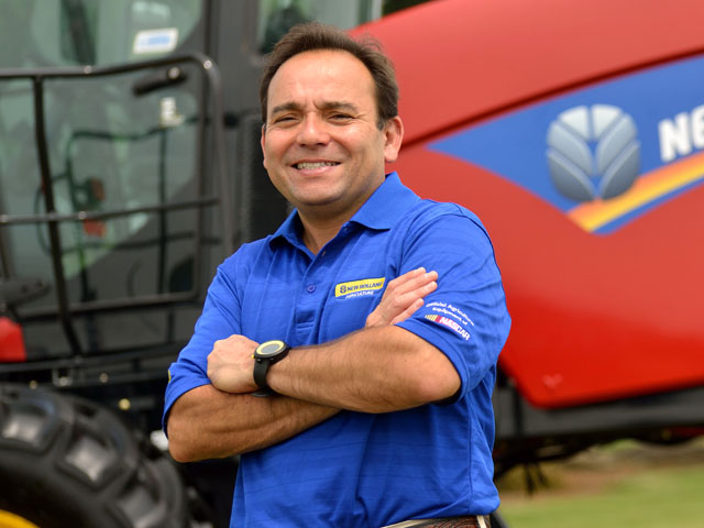 Abe Hughes exudes confidence about the company he leads and the dealers that represent it to farmers. (DTN/The Progressive Farmer photo by Jim Patrico)