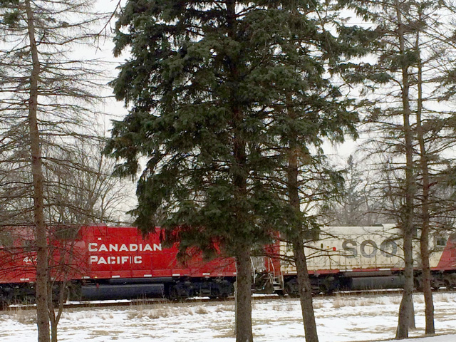 Canadian Pacific train heading through the Twin Cities corridor. (DTN file photo by Mary Kennedy)