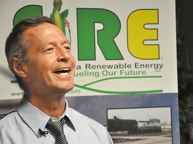 Former Maryland Gov. Martin O'Malley kicked off a long weekend of campaign stops Thursday with a visit to Southwest Iowa Renewable Energy, a 125-million-gallon ethanol plant just south of Council Bluffs, Iowa. (DTN file photo)