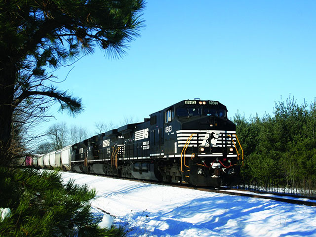 Pictured is a Norfolk Southern train. (Photo courtesy of nscorp.com)