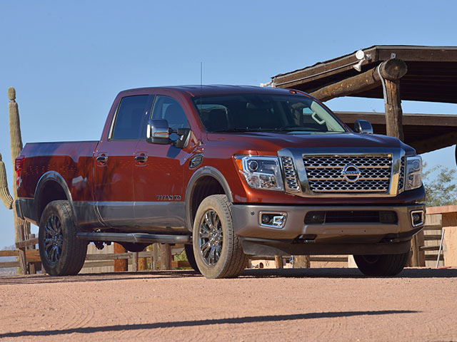 The new Titan XD is the first part of Nissan's re-launch of its full-sized truck line. (DTN/The Progressive Farmer photo by Jim Patrico)