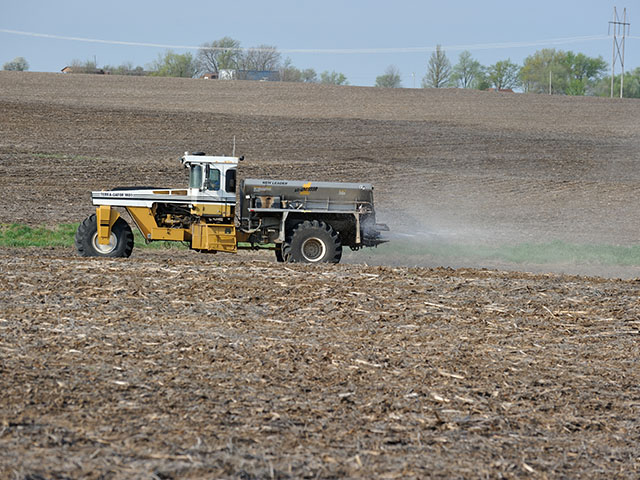Don't fret if you didn't get potash on last fall. There's time this spring and getting it to the plant just in time can be a good move. (DTN photo by Jim Patrico)