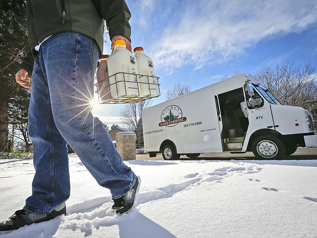 Longmont Dairy never quit the home-delivery business; today it has more than 25,000 customers in the Colorado Front Range region. (DTN/Progressive Farmer image by Lance Murphey)
