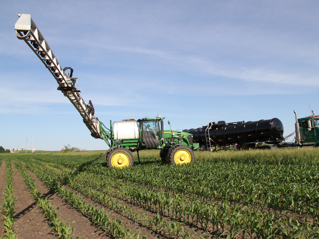 Bayer hopes to bring a three-way stack of dicamba, glufosinate and glyphosate-tolerant corn to the market in early- to mid-2020s. (DTN photo by Pamela Smith)
