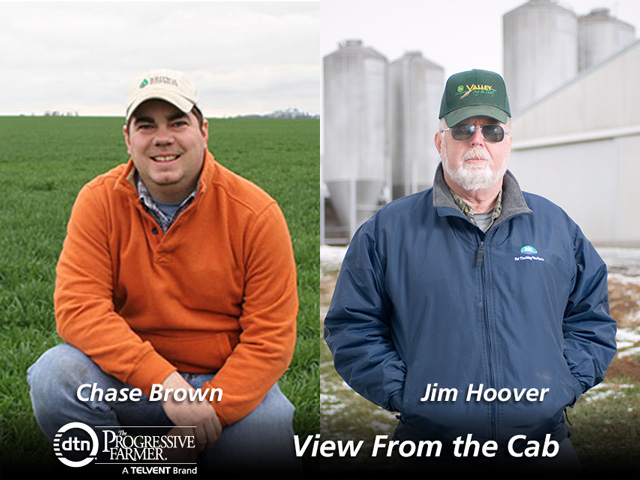 This year's View From the Cab farmers are Chase Brown of Decatur, Illinois, and Jim Hoover of Newport, Pennsylvania. (Brown photo by Pam Smith; Hoover photo by Edwin Remsberg)