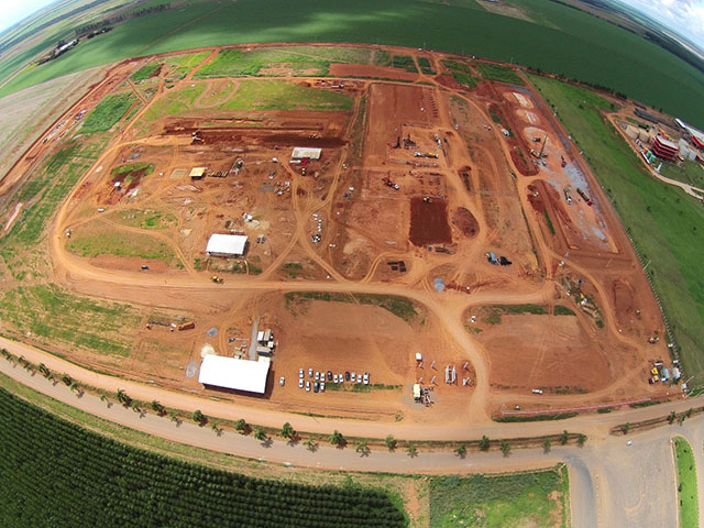 Iowa-based Summit Agricultural Group recently started construction of a corn-based ethanol plant in Brazil. Once completed, the plant will be the largest of its kind in that country. (Photo courtesy of Summit Agricultural Group)
