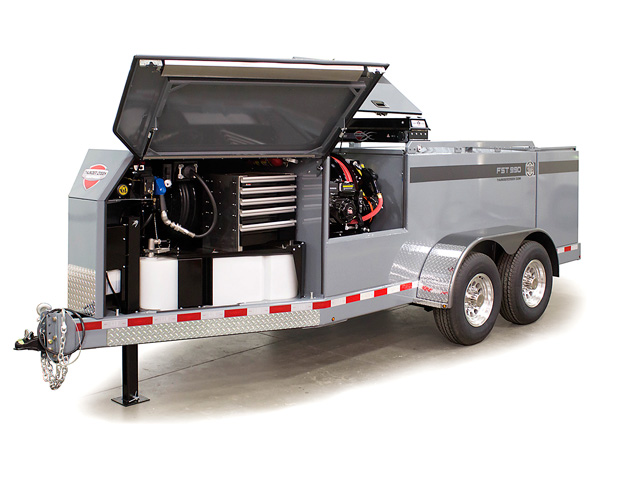 This trailer from Thunder Creek offers expandable options for taking diesel and DEF to the field. (Photo Courtesy Thunder Creek)