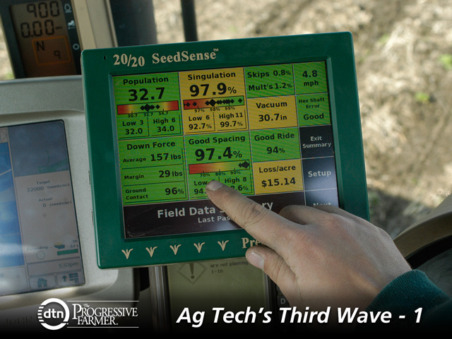 Between 2013 and 2019, Midwest farmers are expected to double their rate of adopting technology, according to a new industry study by Caledonia Solutions. (DTN photo by Gregg Hillyer)