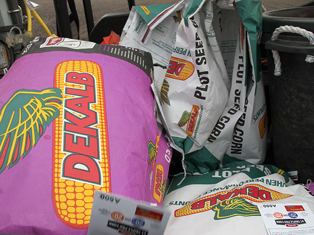 Further consolidation talks within the seed and chemical industry have Bayer courting Monsanto. DeKalb is one of Monsanto's seed brands. (DTN photo by Pamela Smith)