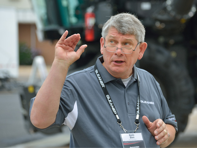 Kevin Bien was the Gleaner brand's most enthusiastic spokesman. He was part of AGCO from its beginning until his death on June 2. (DTN/The Progressive Farmer photo by Jim Patrico)