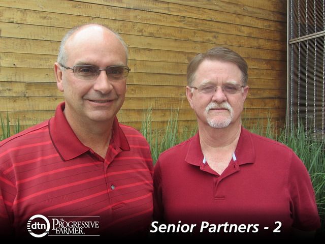 Rob Rettig (left) and Rick Fruth created a unique arrangement to help their Ohio partnership outlive them. (DTN Photo by Elizabeth Williams)
