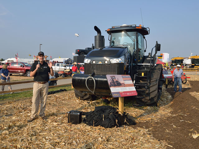 New products and new sales pitches are ubiquitous at farm shows. Both demonstrate trends in the industry because they indicate what manufacturers believe farmers are in the mood to buy. DTN/The Progressive Farmer photo by Jim Patrico)