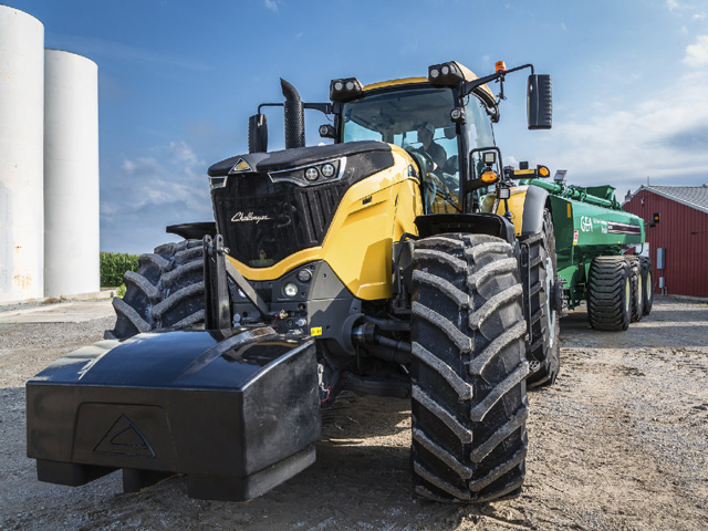 AGCO says the new Challenger 1000 Series is the largest fixed-frame tractor in the world. It can pull like an articulated 4WD, yet is nimble enough for most on-farm chores. (Photo courtesy of AGCO)