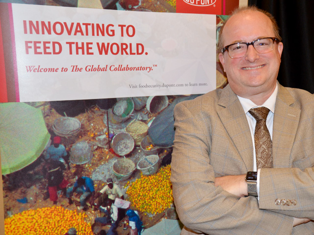 DuPont Pioneer's Brad Kurtz believes international treaties need to do more to attract funding for better seed varieties targeted at smallholder farmers. (DTN photo by Elizabeth Williams)