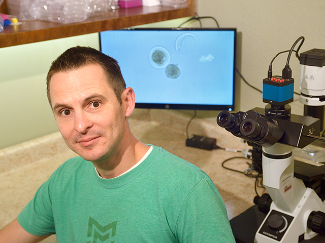 Matt Barten, founder of Embruon, says technology now exists to sample a frozen embryo and genotype it, revealing gender and genetic makeup of an unborn calf. (DTN/Progressive Farmer photo by Jim Patrico)