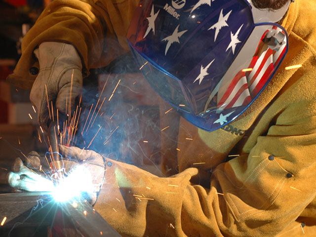 Welding is inherently dangerous, as are many tasks around the farm. Be smart and stay safe now and in the new year. (DTN/The Progressive Farmer photo by Jim Patrico)