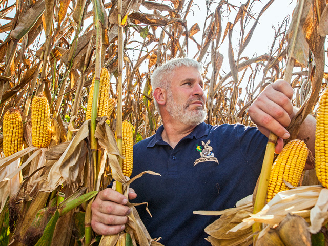 This year Randy Dowdy hauled home a first place win in NCGA's National Corn Yield contest with 521.3969 bushels per acre. (DTN/Progressive Farmer photo by Mark Wallheiser)