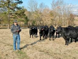 Robert Field of Mississippi is committed to Beef Quality Assurance practices. (DTN/Progressive Farmer photo by Becky Mills)