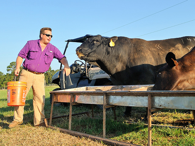 Marty Wooldridge looks for a new income stream by filling urban freezers with his own roasts and steaks. (DTN/Progressive Farmer image by Jim Patrico)
