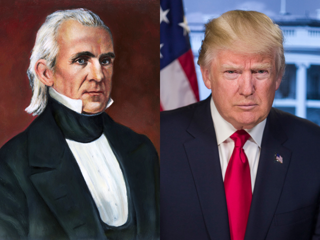 When it comes to contentious U.S. relations with Mexico, Presidents James K. Polk and Donald J. Trump could turn out to be the perfect bookends. (Courtesy photos)