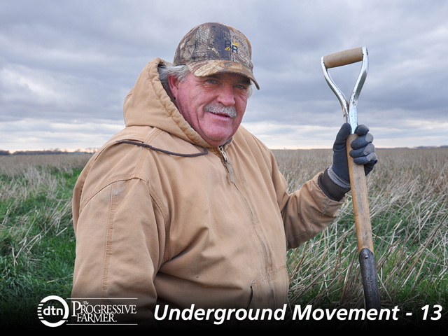 Doug Toussaint and sons use cover crops, no-till and a diverse rotation to turn hardpan clays into aggregate-filled, tilthy soils. (Photo courtesy of Abbey Wick/North Dakota State)
