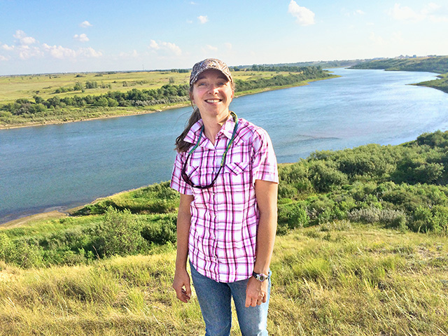 Hailey Wilmer, a researcher at the USDA-Northern Plains Climate Hub in Colorado, hopes to find ways to help those affected by drought better adapt to changing climates. (Photo by USDA-ARS)