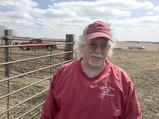 Charlie Johnson has been an organic farmer raising cattle and crops for four decades in South Dakota. (Photo courtesy of Charlie Johnson)