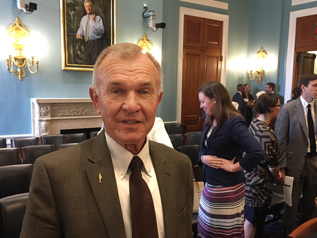 Ron Suppes, a Kansas farmer, testified Wednesday about the importance of foreign food aid and its long-term benefits for U.S. farmers. (DTN photo by Chris Clayton)