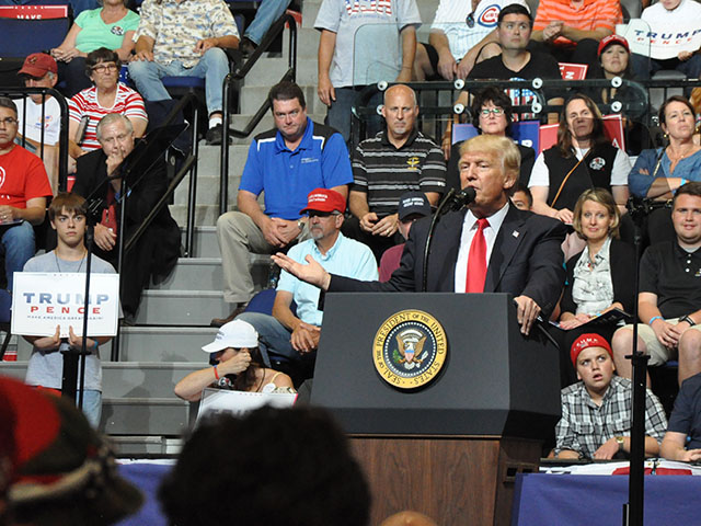 President Donald Trump said his administration will continue to cut regulations that affect farmers and ranchers and seek repeal of the estate tax. (Photo by Todd Neeley)