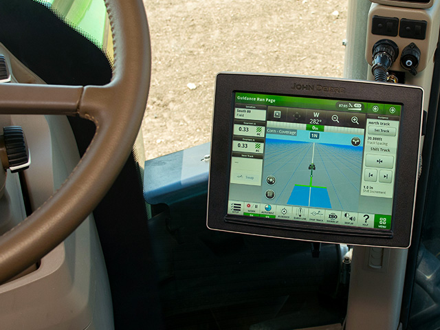 The advanced 4640 display from John Deere requires an equipment purchase and a software subscription. The formula is a departure from previous payment plans. (Photo courtesy of John Deere)