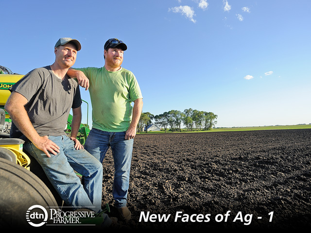 Joel (left) and Stephen Lange moved 250 miles from home to make new homes and new careers in farming. (DTN/The Progressive Farmer photo by Jim Patrico)