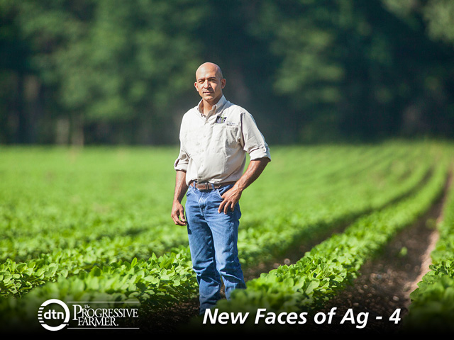 Nik Morris learned from his folks that a strong work ethic and diversification will bring its own rewards. (DTN/The Progressive Farmer photo by Debra Ferguson)