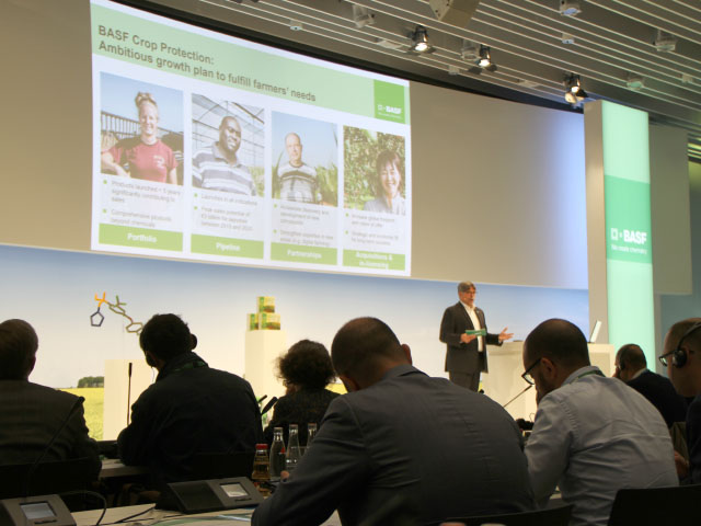 When BASF Crop Protection President Markus Heldt addressed journalists in Germany in 2016, he talked of the company's ambitious growth plan, but a seed business wasn't on the table then. (DTN photo by Pamela Smith)