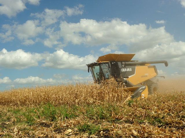 Corn harvest is running slow, with western Midwest progress the slowest since 2009. (DTN file photo by Jim Patrico)