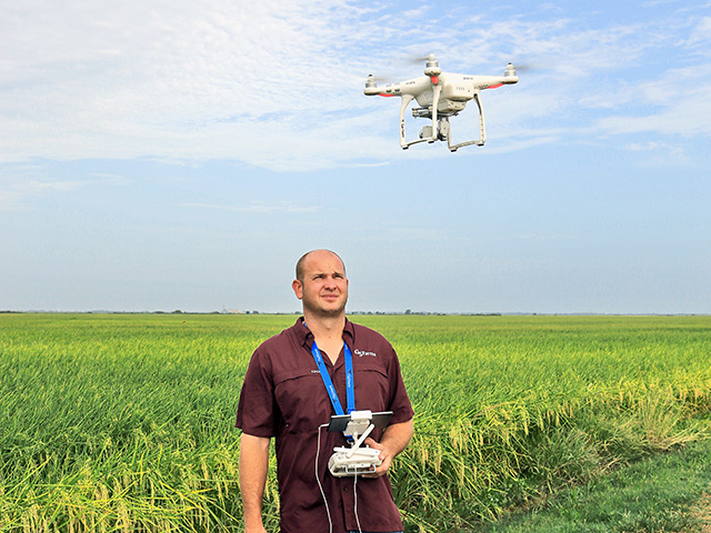 Timothy Gertson bought a Phantom 3 Advanced drone for fun then found it paid for itself in saved time and effort. (DTN/The Progressive Farmer photo by Karl Wolfshohl)