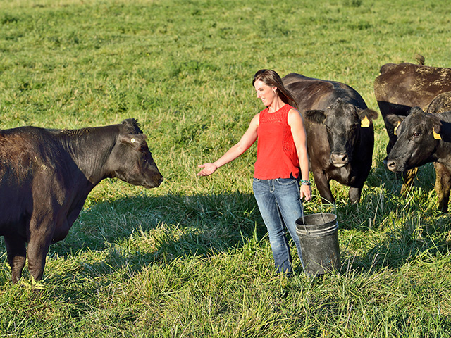 Amy Lehenbauer says when she started to work full-time on the family farm, it was critical to know where she could best contribute to the success of the overall operation. (DTN/Progressive Farmer photo by Jim Patrico)
