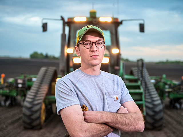 Matthew Fitzgerald helped create an initiative offering tax credits to Minnesota landowners who allow beginning farmers to buy or rent land. (DTN/The Progressive Farmer photo by Steve Woit)