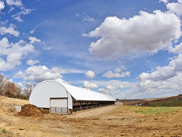 Producers raising cattle in hoop barns face a unique set of challenges but may also find multiple rewards.(DTN/Progressive Farmer photo by Jim Patrico)