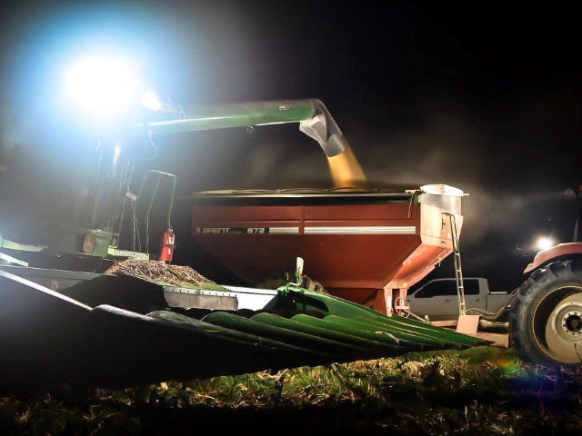 It's taken awhile, but the lights are finally about to go out on U.S. corn harvest 2017. (Photo by Nicholas Fontenot)