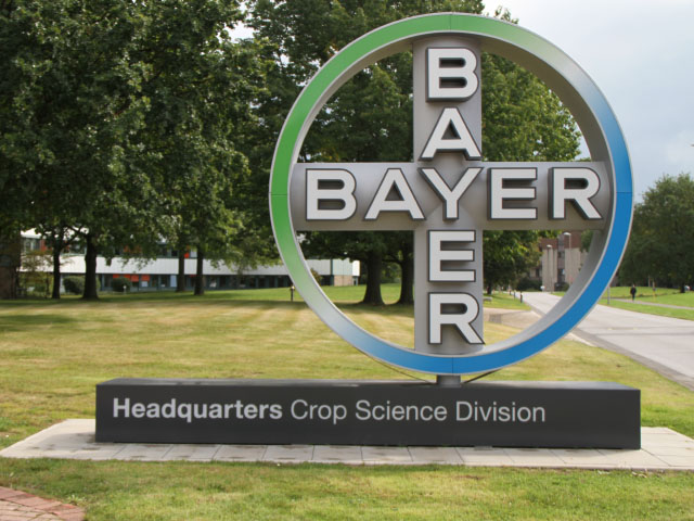 After its acquisition of Monsanto this month, the Bayer brand will bear no trace of the old Monsanto name. (DTN photo by Pamela Smith)