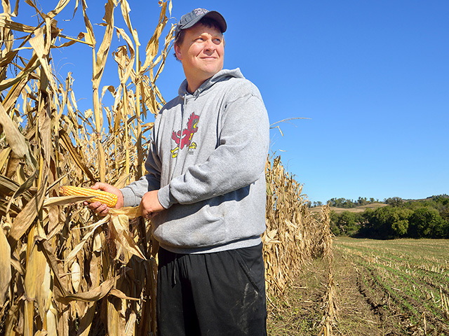 Dan Durick said the family is managing its ground to produce more corn on fewer acres. (Progressive Farmer photo by Jim Patrico)