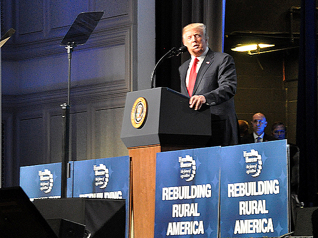 President Donald Trump will again speak to members of the American Farm Bureau Federation as he travels to New Orleans on Monday to talk to farmers about border security and his presidency. (DTN file photo by Chris Clayton)