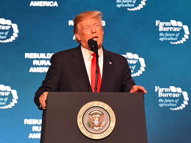 President Donald Trump spoke to attendees of the American Farm Bureau Federation annual meeting in Nashville, Tennessee on Monday afternoon. (Photo courtesy of the American Farm Bureau Federation)