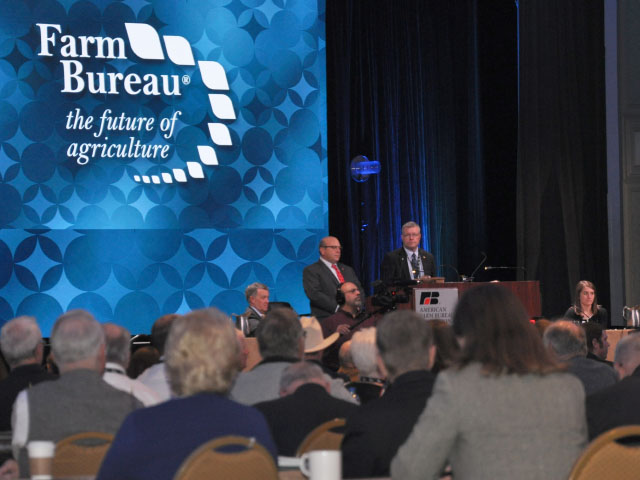 The American Farm Bureau Federation completed its annual meeting Tuesday with a daylong session debating changes in the group's policy book. (Photo by Chris Clayton)