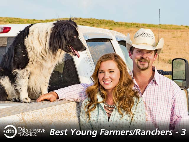 Page and Tyler Turecek say their goal is to honor and build upon what Tyler's parents built, but also to leave behind a ranch that allows future generations to be successful. (DTN/The Progressive Farmer photo by Rob Lagerstrom)
