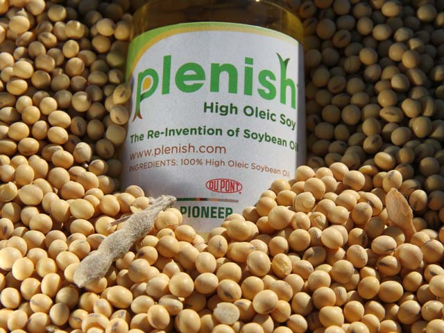 Pioneer hopes more farmers in Iowa and Illinois will start planting high oleic Plenish soybeans now that the company has full regulatory approval in key export markets. (DTN photo by Pamela Smith)